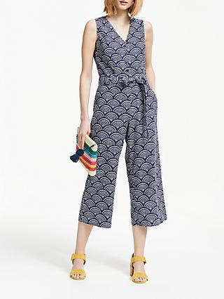 Boden Verity Linen Cotton Jumpsuit, Navy
