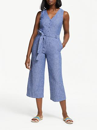 Boden Verity Jumpsuit, Light Chambray