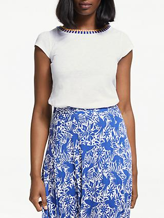 Boden Sena Embroidered Top, White