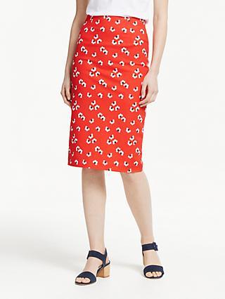 90325bf571 Boden Richmond Pencil Skirt, Red/Multi