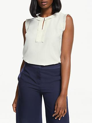 d736f5f1164 Boden Peggy Pleated Top, Ivory