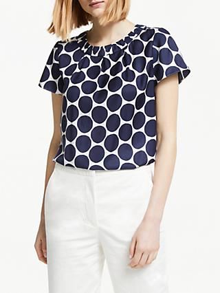 Boden Carey Top, Navy Spot