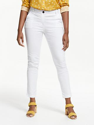 Boden Helena Chino Trousers, White
