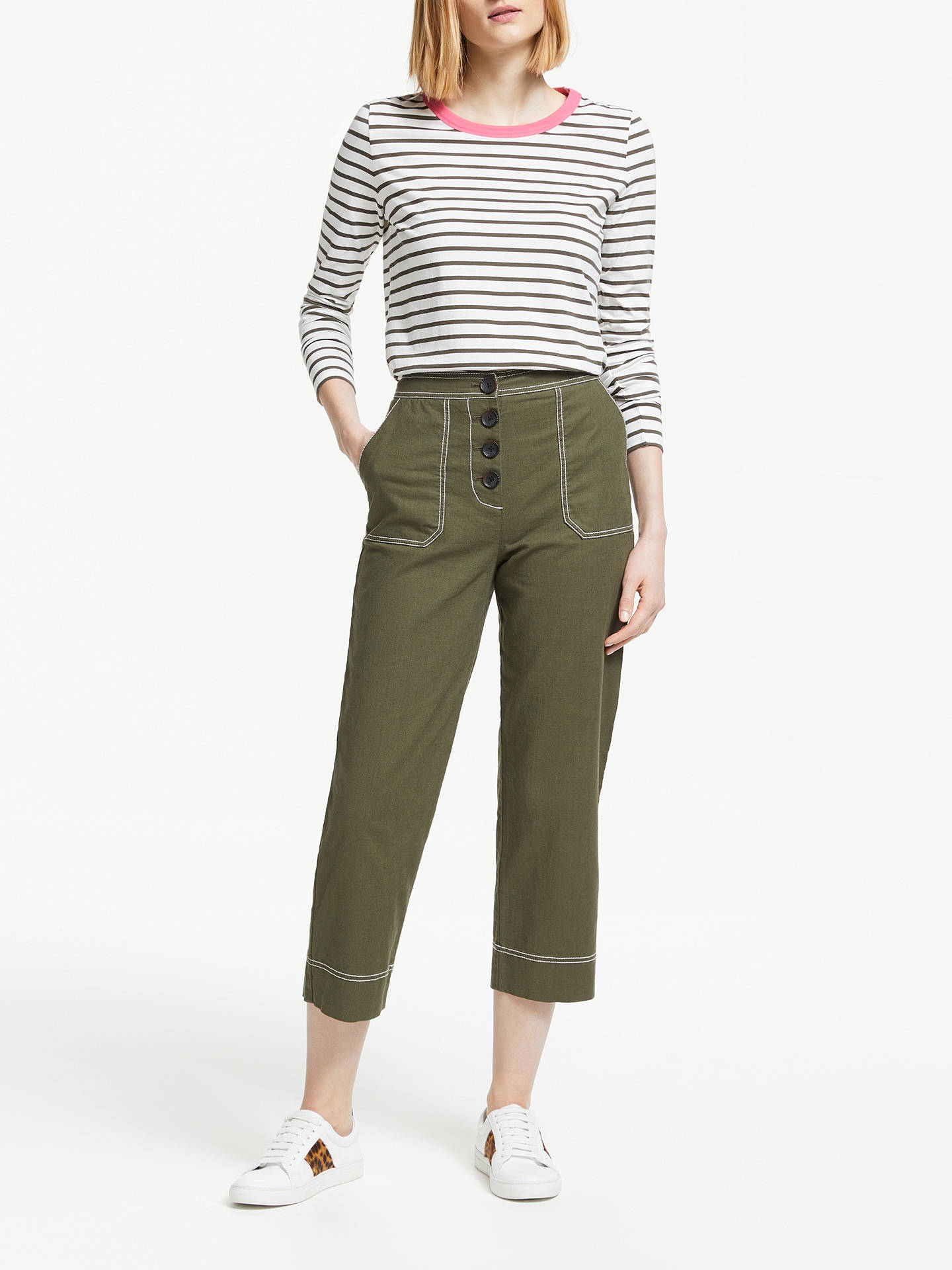 Buy Boden Wadebridge Trousers, Classic Khaki, 16 Online at johnlewis.com