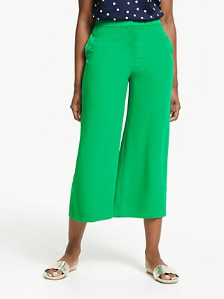 Boden Exeter Wide Leg Culottes, Highland Green
