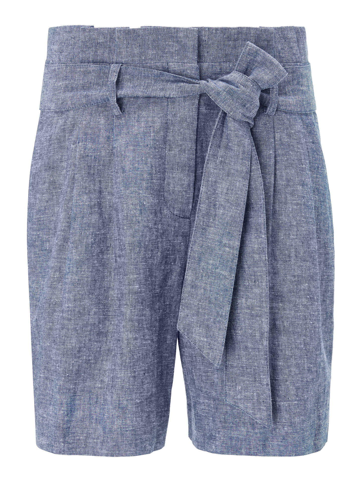 Buy Boden St Ives Paperbag Shorts, Light Chambray, 12 Online at johnlewis.com