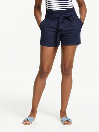 Buy Boden St Ives Paperbag Shorts, Navy, 8 Online at johnlewis.com
