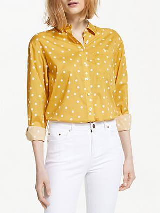 Boden Audrey Spotted Girlfriend Shirt, Dijon Yellow