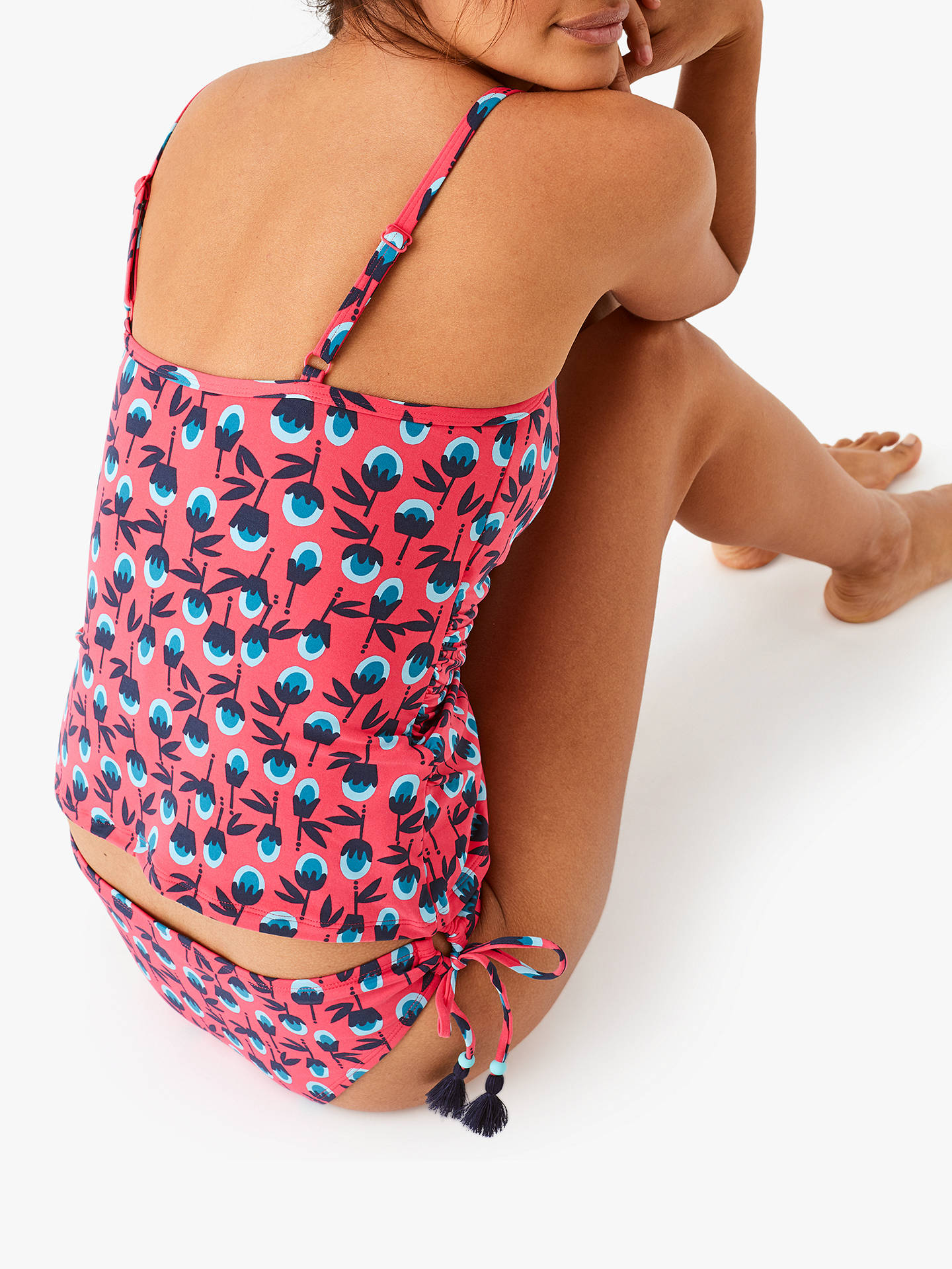 Buy White Stuff Rio Floral Tankini Top, Carnival Pink, 16 Online at johnlewis.com