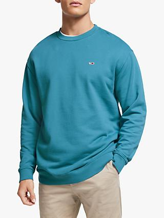 Tommy Jeans Washed Crew Neck Sweatshirt, Saxony Blue
