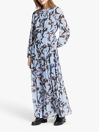 Somerset by Alice Temperley Bird Print Maxi Dress, Blue