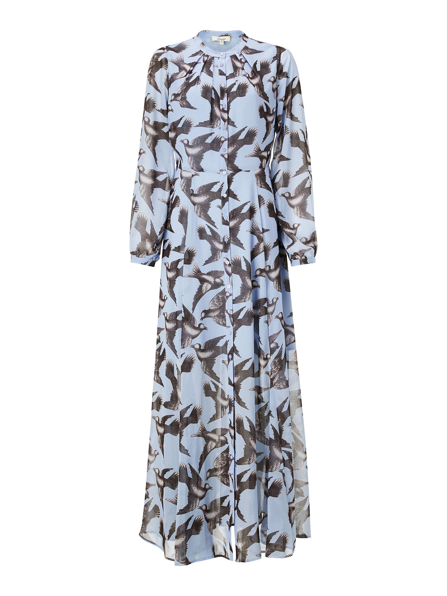 Buy Somerset by Alice Temperley Bird Print Maxi Dress, Blue, 8 Online at johnlewis.com
