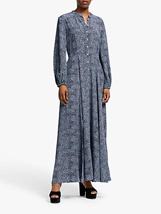 Somerset by Alice Temperley Leopard Print Maxi Dress, Blue