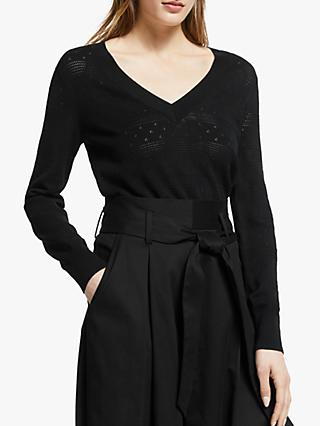 Somerset by Alice Temperley Pointelle Jumper, Black