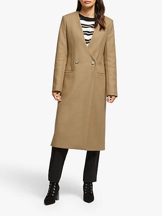 Buy Somerset by Alice Temperley Double Breasted Coat, Camel, 18 Online at johnlewis.com
