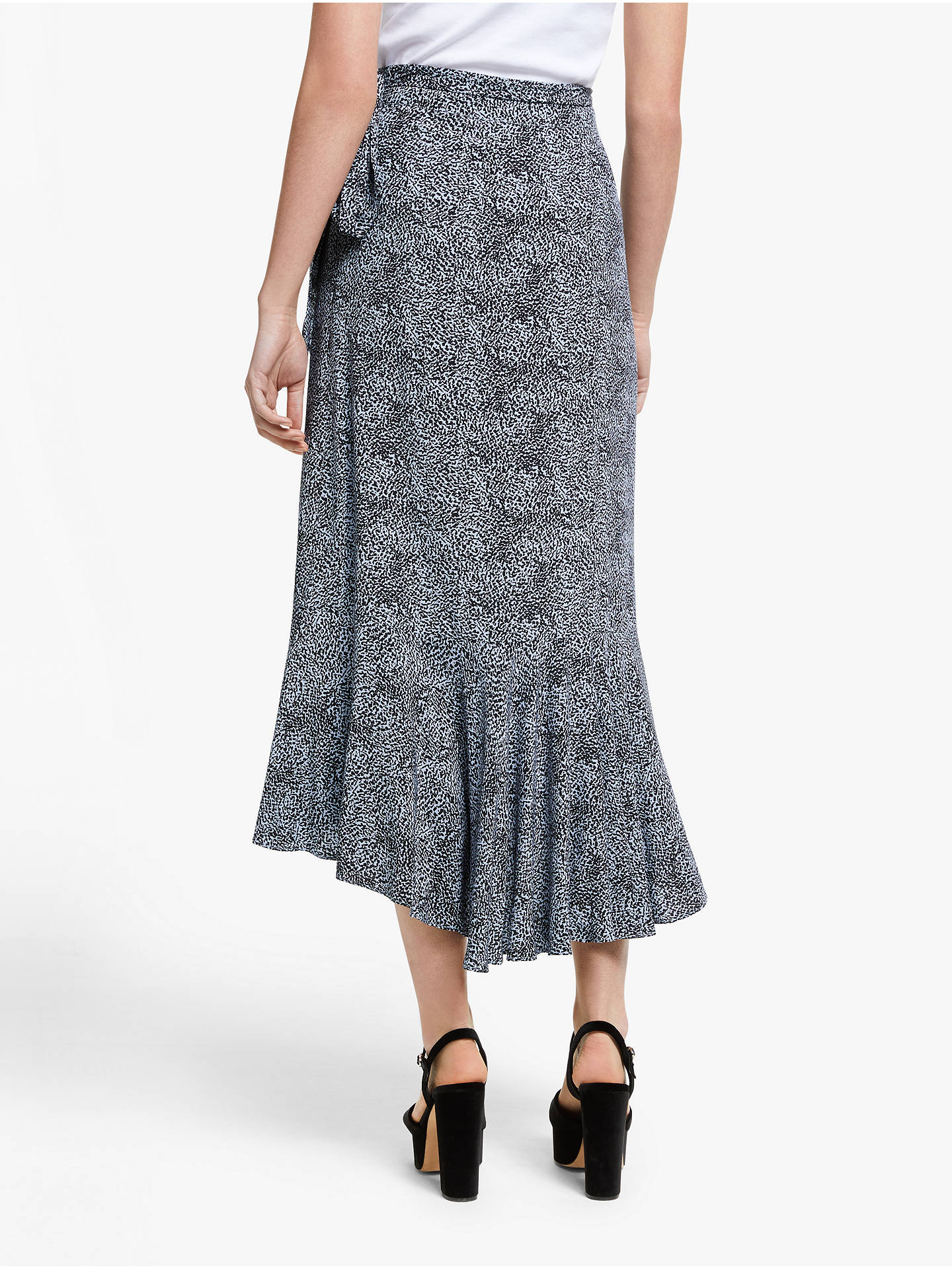 Buy Somerset by Alice Temperley Micro Leopard Print Midi Skirt, Blue, 18 Online at johnlewis.com