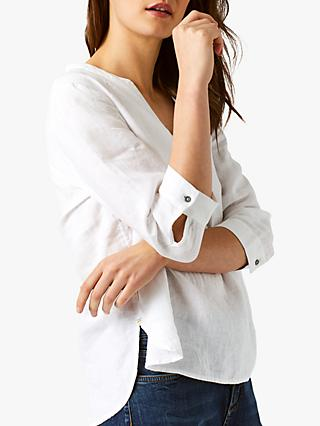 White Stuff Snapshot Linen Shirt, White