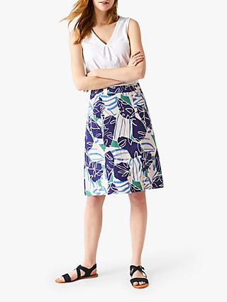White Stuff Julip Linen Skirt, Amethyst Purple