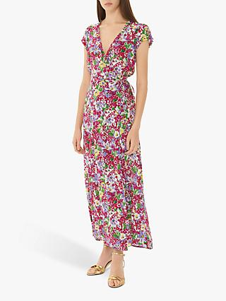 Gerard Darel Giovanna Floral Print Dress, Pink/Multi