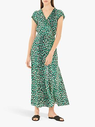 Gerard Darel Giovanna Animal Print Dress, Green/Multi