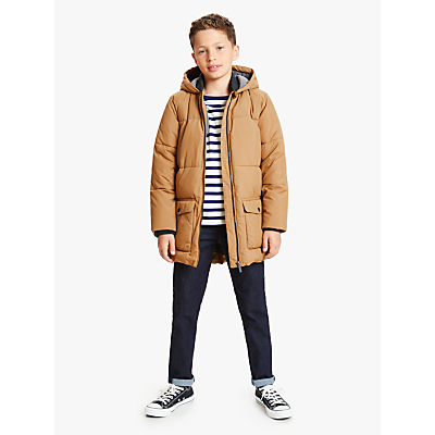 John Lewis & Partners Boys' Longline Padded Jacket, Yellow
