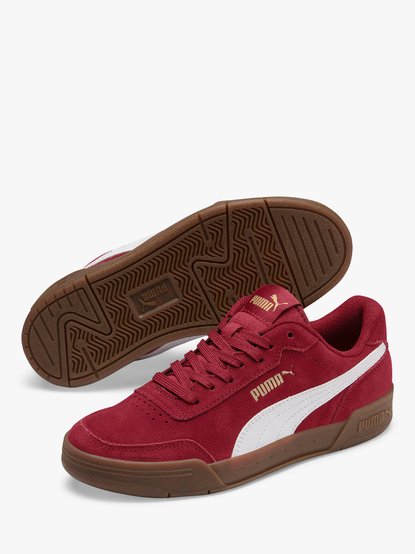 PUMA Children's Caracal Trainers, Burgundy Suede at John ...