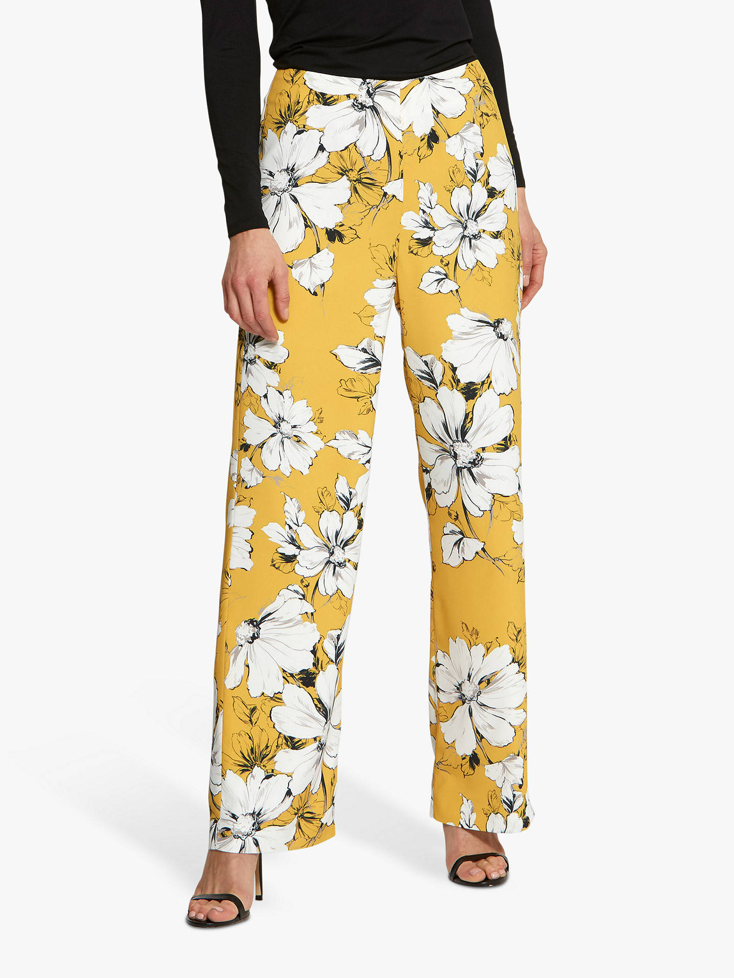 Buy Helen McAlinden Lana Floral Trousers, Yellow, 8 Online at johnlewis.com