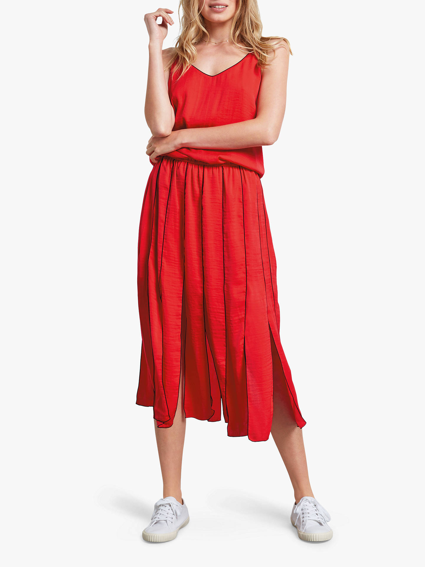 Buy hush Pleat Panel Dress, Red, 10 Online at johnlewis.com