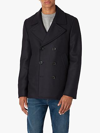 Paul Smith Wool Cashmere Peacoat, Navy