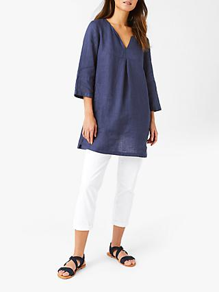 White Stuff Linen Tunic, Navy