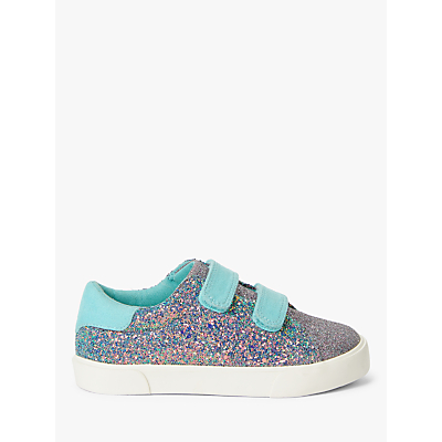 John Lewis & Partners Children's Ellie Glitter Trainers, Multi