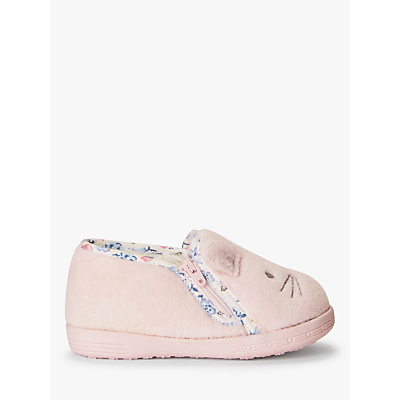 John Lewis & Partners Baby Bunny Slippers, Cream