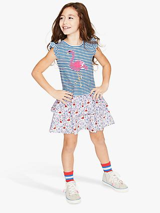 7b39757dbe2 Mini Boden Girls  Colour Change Flamingo Dress