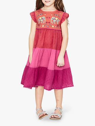 dcaf4acad44c Mini Boden Girls' Embellished Midi Dress, Tropical Coral
