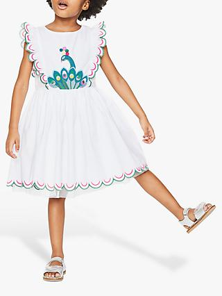 05a7ae2daa9 Mini Boden Girls  Peacock Embroidered Scallop Dress