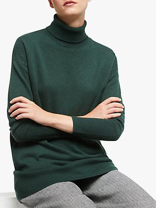 John Lewis & Partners Cashmere Relaxed Roll Neck Sweater