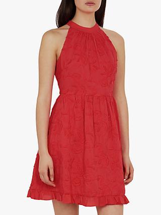 9936abffb Ted Baker Lorene Halter Neck Embroidered Dress