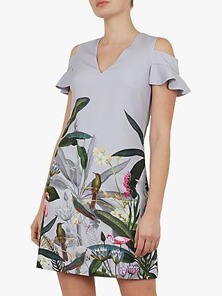 fb5c42226c Ted Baker Emerry Floral Cold Shoulder Dress
