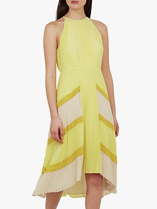 Ted Baker Nellina Pleated Dress, Yellow