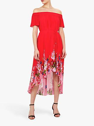 Ted Baker Gillyy Bardot Floral Dress, Red