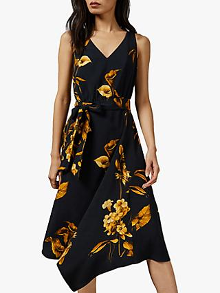 Ted Baker Callo Asymmetric Dress, Dark Blue