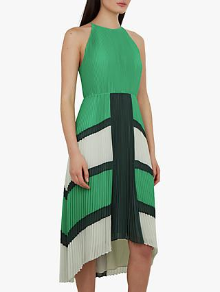 Ted Baker Nellina Pleated Dress, Green