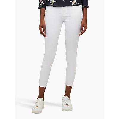 Ted Baker Catarsi Frayed Hem Skinny Jeans, White