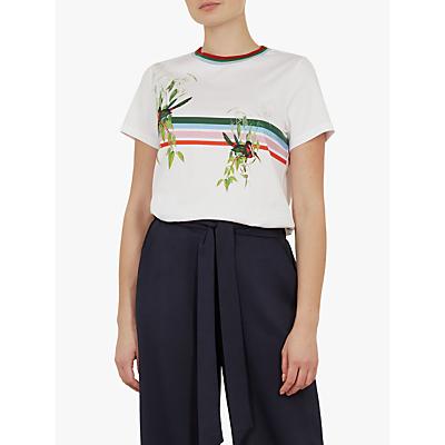 Ted Baker Kathlin Printed T-Shirt, White
