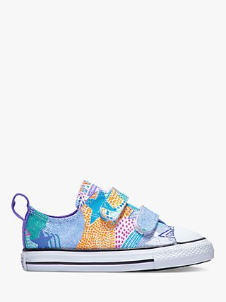 reputable site c9387 5149e Converse Children s Chuck Taylor All Star 2V Riptape Trainers, Wild  Lilac White Black