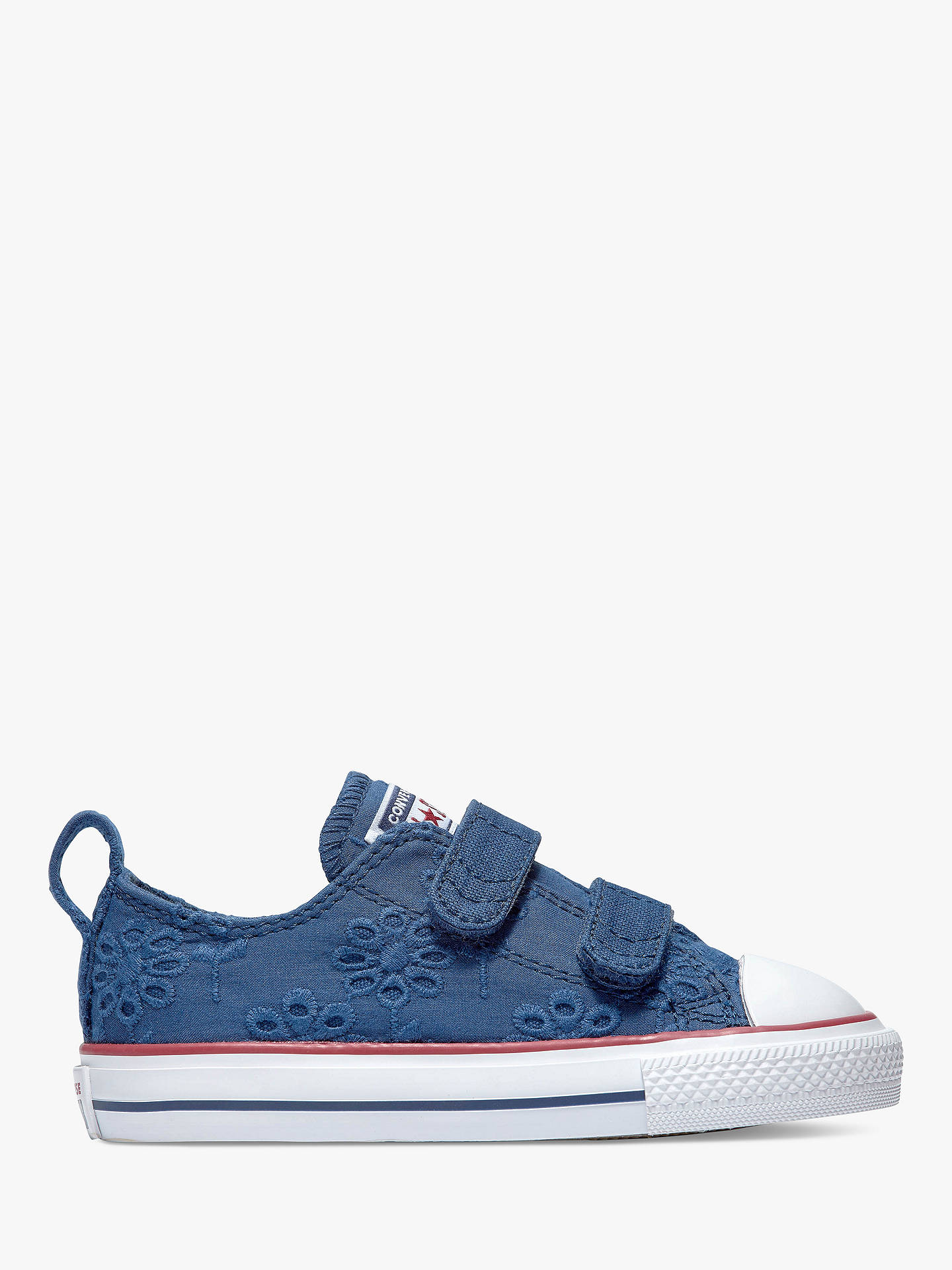 00f7598f5c86 Buy Converse Junior Chuck Taylor All Star Broderie Anglaise 2V Riptape  Trainers