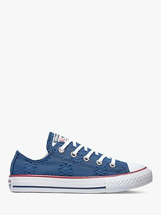 7b9fb6f6fe1614 Converse Children s Chuck Taylor All Star Broderie Anglaise Trainers