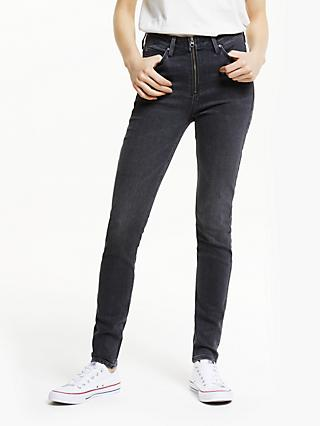 Lee Scarlett High Rise Zip Skinny Jeans, Pitch
