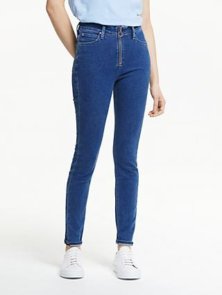 Lee Scarlett High Rise Zip Skinny Jeans, Blue Black