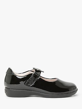 Lelli Kelly Children's Blossom Leather School Shoes, Black Patent